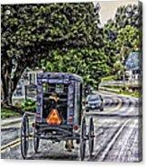 Amish Girl Acrylic Print