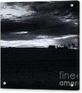 Amish Sunrise Black And White Acrylic Print