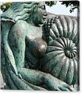 Ammonite Statue Acrylic Print
