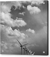 Amongst The Clouds Bw Acrylic Print