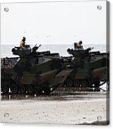 Amphibious Assault Vehicles Land Ashore Acrylic Print