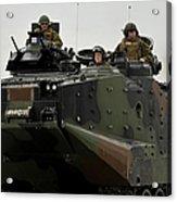 Amphibious Assault Vehicles Make Acrylic Print