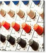 Amplifier Dials Acrylic Print by Tom Gowanlock