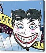 Amused Joker Acrylic Print