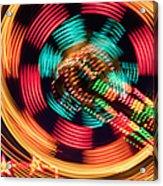Amusement Park Ride At Night Acrylic Print