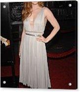 Amy Adams Wearing A J. Mendel Dress Acrylic Print by Everett