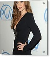 Amy Adams Wearing An Andrew Gn Dress Acrylic Print