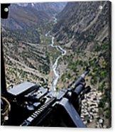 An Aerial Gunner Surveys Acrylic Print