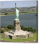 An Aerial View Of The Statue Of Liberty Acrylic Print