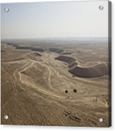 An Aerial View Of The Wadi Over Kunduz Acrylic Print