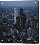 An Aerial View Of Toronto At Dusk Acrylic Print