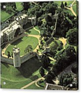 An Aerial View Of Warwick Castle Acrylic Print by Richard Nowitz