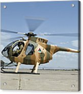 An Afghan Air Force Md-530f Helicopter Acrylic Print