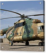 An Afghan Air Force Mi-17 Helicopter Acrylic Print