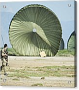 An Air Delivery Of Humanitarian Aid Acrylic Print
