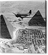 An Air Transport Command Plane Flies Acrylic Print