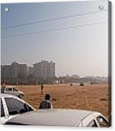 An Almost Empty Parking Lot At Surajkand Fair In India Acrylic Print