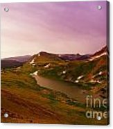 An Alpine Lake On Beartooth Pass  Acrylic Print