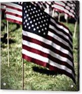 An American Flag Acrylic Print