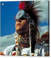 An American Indian No1 Acrylic Print
