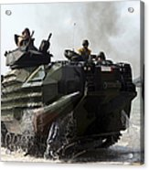 An Amphibious Assault Vehicle Hits Acrylic Print