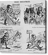 An Anti-irish Cartoon Entitled Irish Acrylic Print by Everett