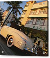 An Antique Car Parked Outside The Art Acrylic Print