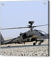 An Apache Helicopter Prepares Acrylic Print