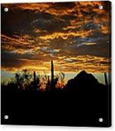 An Arizona Desert Sunset  Acrylic Print