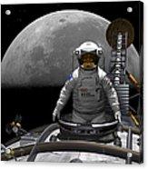An Astronaut Takes A Last Look At Earth Acrylic Print