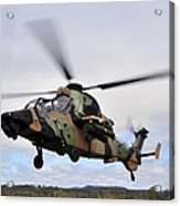 An Australian Army Tiger Helicopter Acrylic Print