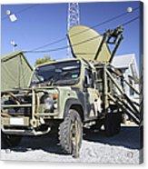 An Australian Defense Force Satellite Acrylic Print
