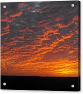 An Awesome Texas Sunset Acrylic Print by Rebecca Cearley