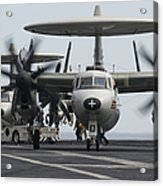 An E-2c Hawkeye Aircraft On The Flight Acrylic Print