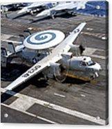 An E-2c Hawkeye Lands On The Flight Acrylic Print