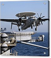 An E-2c Hawkeye Launches Off The Flight Acrylic Print