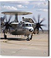 An E-2c Hawkeye On The Runway At Cannon Acrylic Print