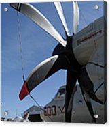 An E-2c Hawkeye Sits On The Flight Line Acrylic Print