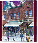 An Early Snow For Cafe Monte Alto Acrylic Print