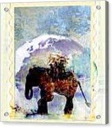 An Elephant Carrying Cargo Acrylic Print