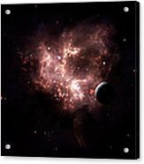 An Emission Nebula Is Viewed From Neaby Acrylic Print
