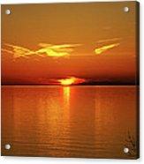 An Erie Sunset Acrylic Print