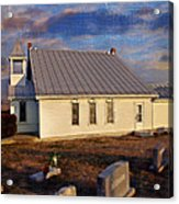 An Evening At Mcelwee Chapel Acrylic Print