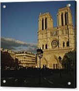 An Exterior View Of Notre Dame Acrylic Print