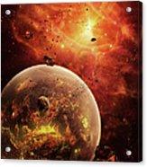 An Eye-shaped Nebula And Ring Acrylic Print