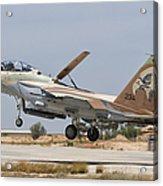 An F-15i Raam Taking Off From Hatzerim Acrylic Print