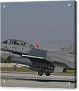 An F-16b Of The Pakistan Air Force Acrylic Print