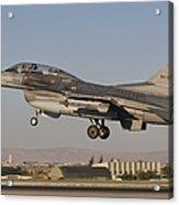 An  F-16b Of The Turkish Air Force Acrylic Print