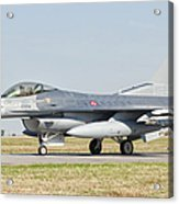 An F-16c Block 50 Of The Turkish Air Acrylic Print