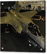 An F-35b Lightning II Is Secured Acrylic Print